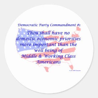 Individual Democratic Commandment #1 Sticker