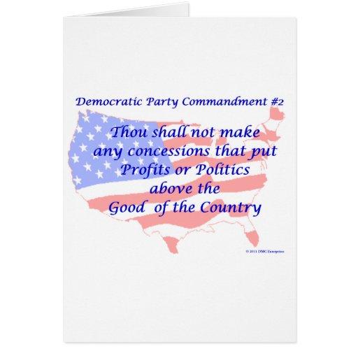 Individual Democratic Commandment #2 Greeting Card