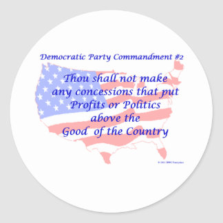 Individual Democratic Commandment #2 Round Sticker