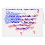 Individual Democratic Commandment #3 Greeting Card