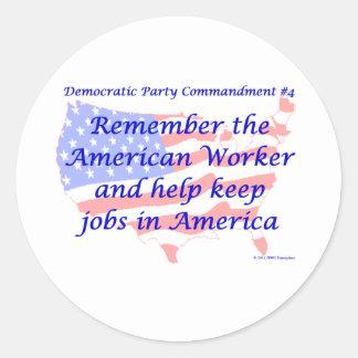 Individual Democratic Commandment #4 Sticker