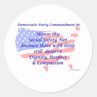 Individual Democratic Commandment #5 Sticker