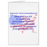 Individual Democratic Commandment #6 Card