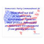 Individual Democratic Commandment #6 Postcard