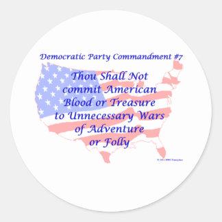 Individual Democratic Commandment #7 Round Sticker