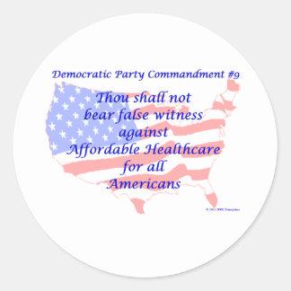 Individual Democratic Commandment #9 Sticker