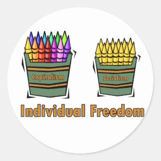 Individual Freedom Classic Round Sticker
