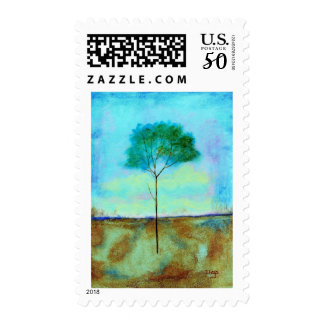 Individual Medium Postage Stamps From Painting