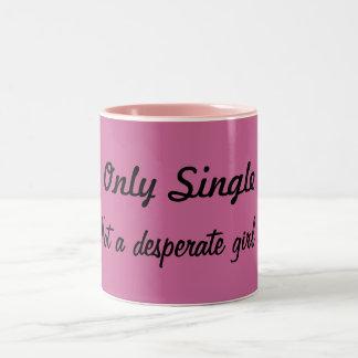 """Individual Mug/Cup """"girl """" Two-Tone Coffee Mug"""