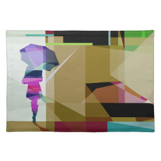 Individual Urban rain tablecloth Cloth Placemat