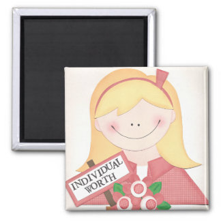INDIVIDUAL WORTH 2 INCH SQUARE MAGNET