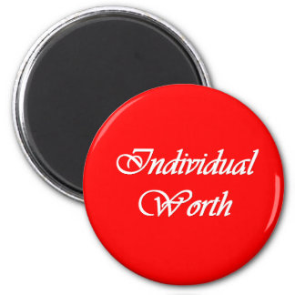 Individual Worth - Personal Progress Value magnet