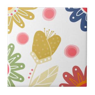 Individual You. Colourful flower design Ceramic Tile