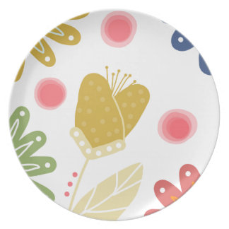 Individual You. Colourful flower design Plate