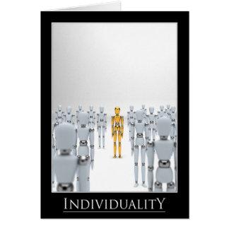 Individualidad Tarjeta De Felicitación