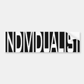 Individualist Bumper Sticker