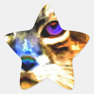 Individualistica Gato Star Sticker