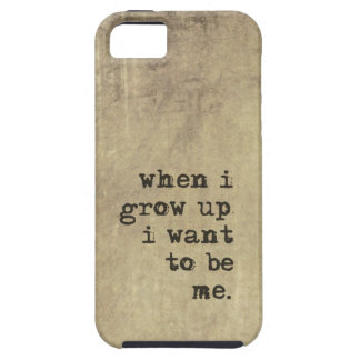 Individuality Quote Typography iPhone 5 Case