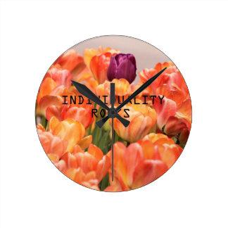 Individuality Rocks Round Clock