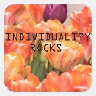 Individuality Rocks Square Sticker