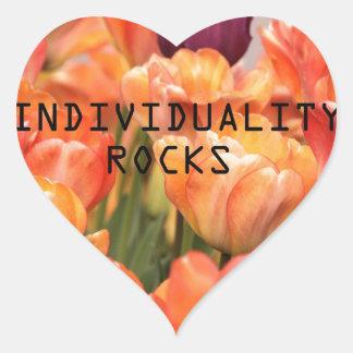Individuality Rocks Heart Sticker