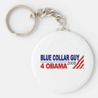 Individuo 4 Obama del cuello azul Llaveros