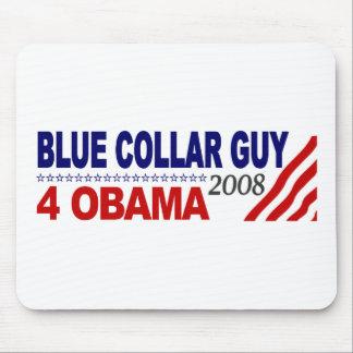 Individuo 4 Obama del cuello azul Tapete De Ratones