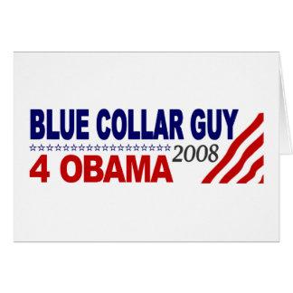 Individuo 4 Obama del cuello azul Felicitación