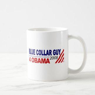 Individuo 4 Obama del cuello azul Tazas De Café