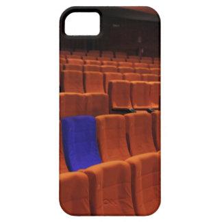 Individuo azul del asiento del teatro del cine iPhone 5 carcasa