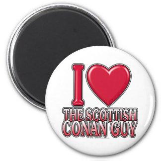 Individuo de Conan del escocés Imán Redondo 5 Cm