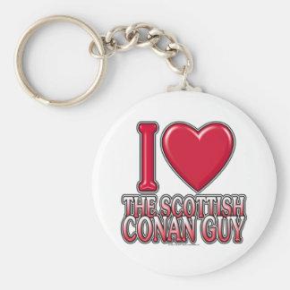 Individuo de Conan del escocés Llavero Redondo Tipo Pin