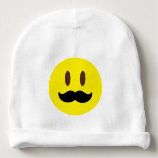 Individuo de Emoji del bigote Gorrito Para Bebe