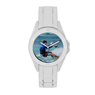 Individuo de Kitesurfing Relojes De Mano