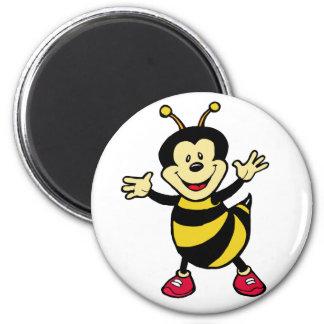 Individuo de la abeja imán redondo 5 cm