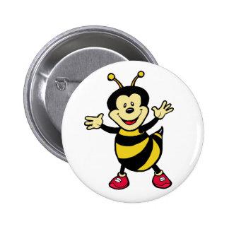 Individuo de la abeja pin redondo de 2 pulgadas