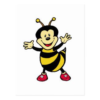 Individuo de la abeja tarjeta postal