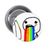 Individuo de la cara del ordenador del arco iris pin
