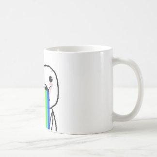 Individuo de la cara del ordenador del arco iris tazas de café
