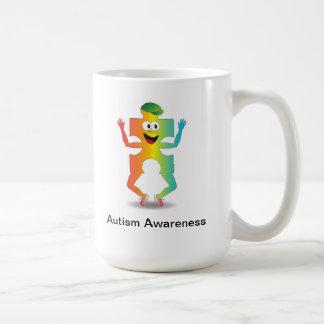 Individuo de la conciencia del autismo taza básica blanca