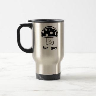 Individuo de la diversión (hongos) taza de café