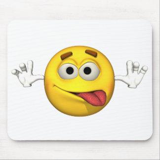 Individuo de la emoción - lengua hacia fuera Mouse Tapetes De Ratón