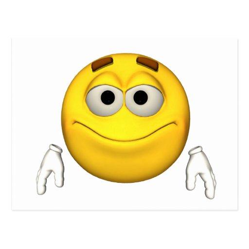 Individuo de la emoción - postal de la sonrisa