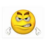 Individuo de la emoción - postal enojada