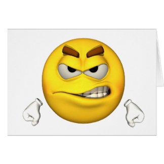 Individuo de la emoción - tarjeta enojada
