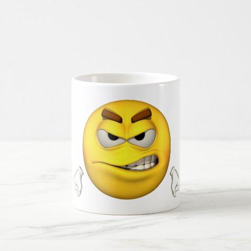 Individuo de la emoción - taza enojada