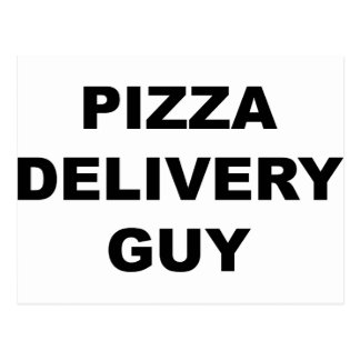Individuo de la entrega de la pizza postal