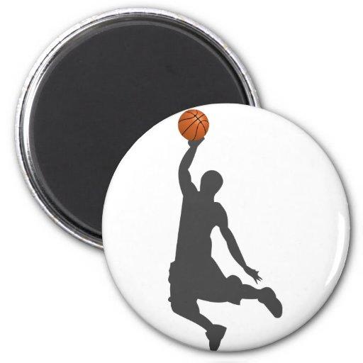 Individuo de la mosca del baloncesto imán redondo 5 cm