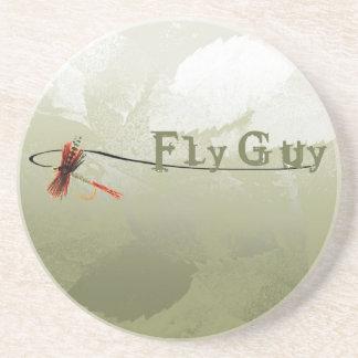 Individuo de la mosca posavasos personalizados