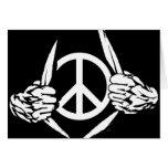 Individuo de la paz felicitacion